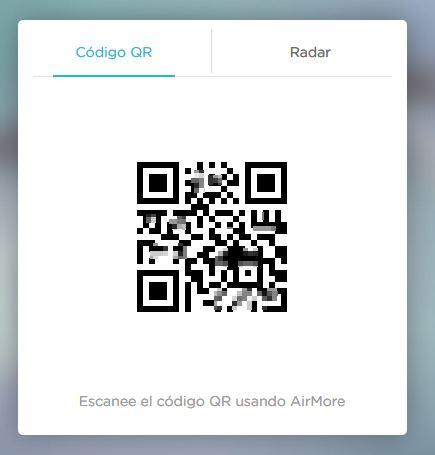 Air more - escaneo de codigo QR