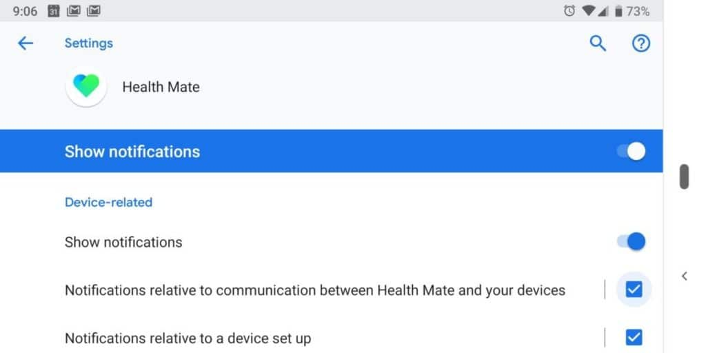 Canales de notificación Android