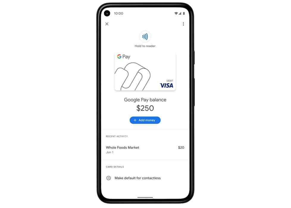 La tarjeta virtual Google Pay para pagos NFC ahora se está implementando ampliamente