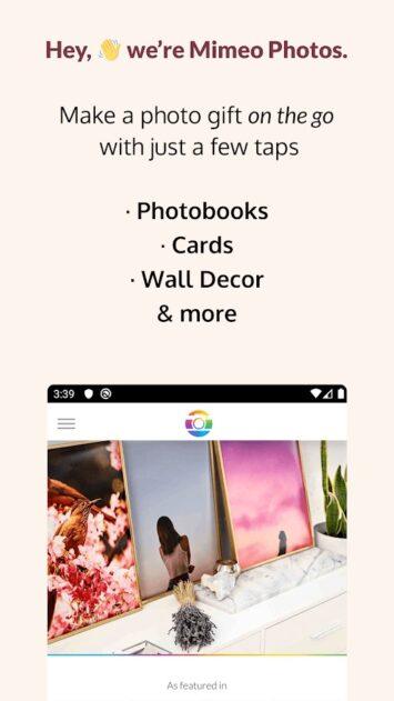 Imagen 1 de la aplicación Mimeo Photos