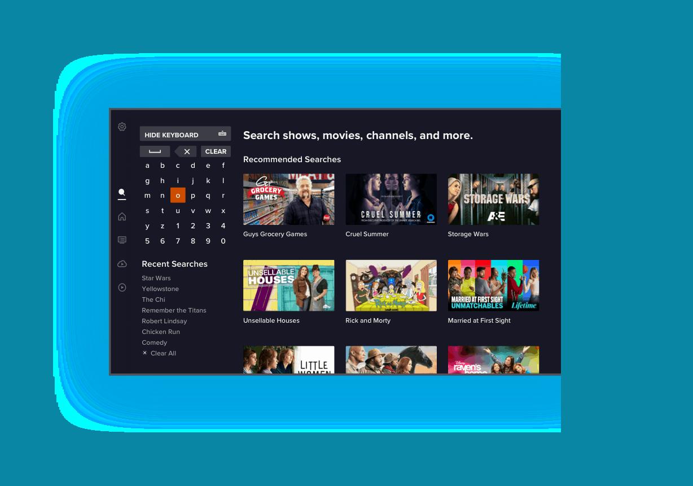 Búsqueda inteligente de la nueva aplicación de SLING TV