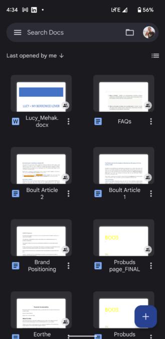 Echa un vistazo a la nueva interfaz de Material You para Documentos, Hojas de cálculo y Presentaciones de Google No hará que tus documentos sean más bonitos, pero al menos navegar a través de ellos será