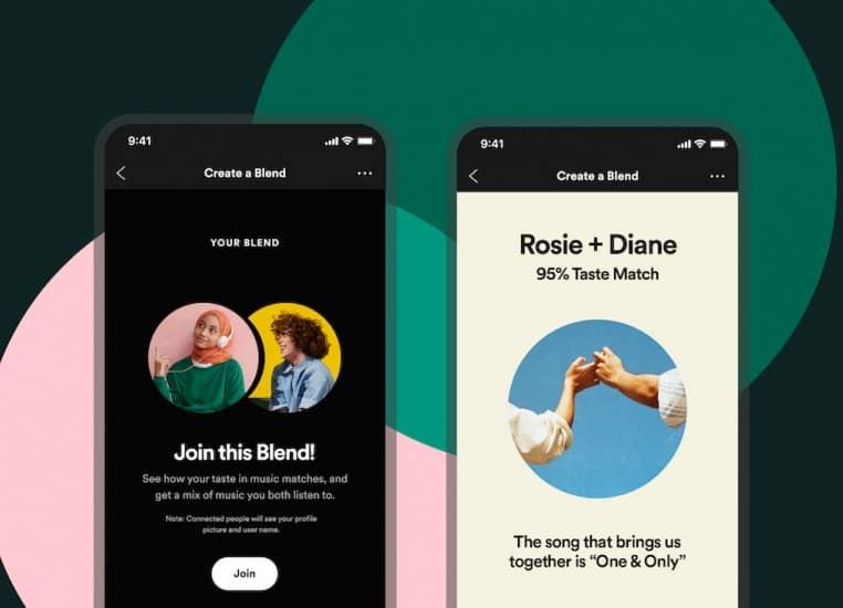 Las listas de reproducción de Spotify Blend Share ya están disponibles para los usuarios de todo el mundo