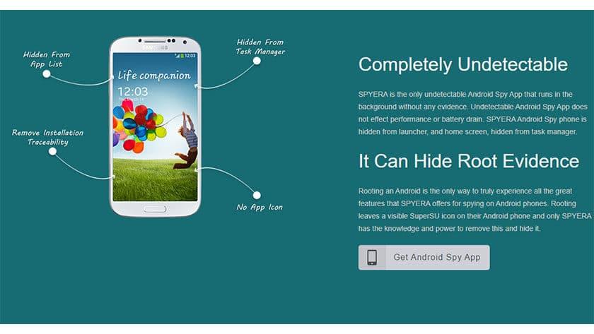Spyera - las mejores aplicaciones espía para Android