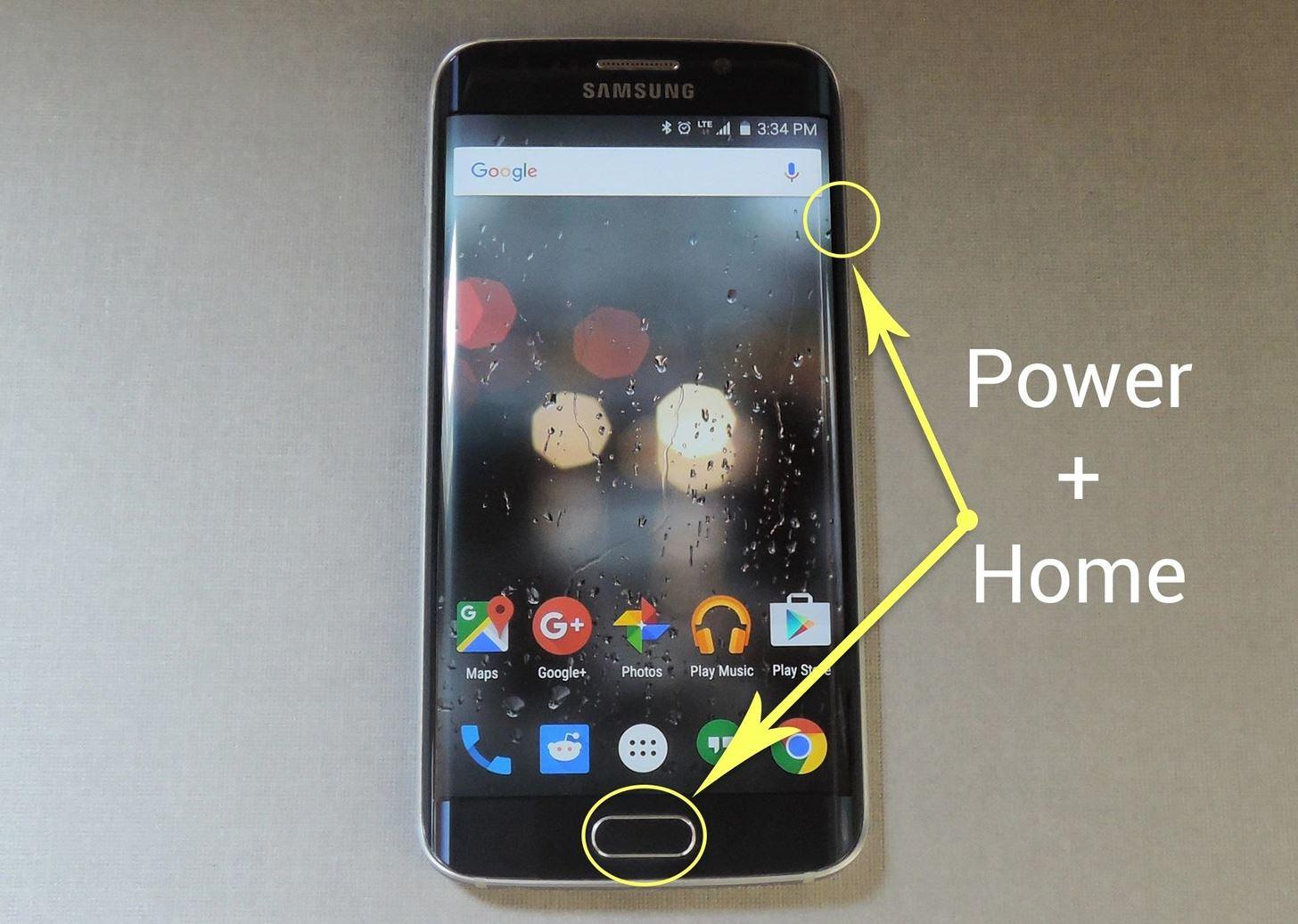 forma basica de hacer un screenshot en Android