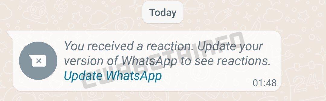 Las reacciones a los mensajes de WhatsApp están en camino🥳 🎉 🔥