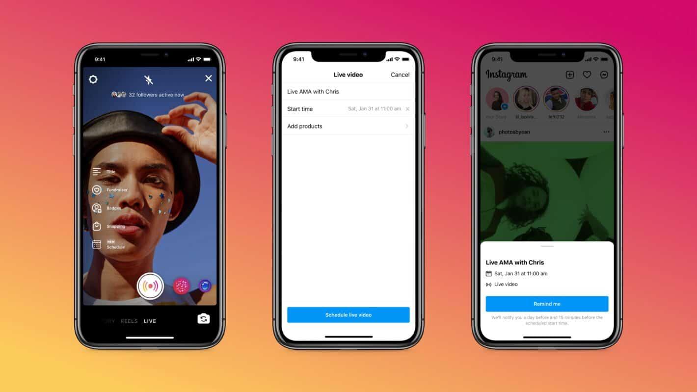 Instagram agrega herramientas de transmisión en vivo del modo de práctica y programación para creadores