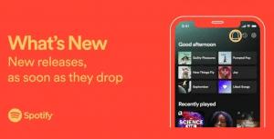 Spotify agrega un nuevo 'panel de novedades' para mostrar los nuevos lanzamientos de sus artistas favoritos